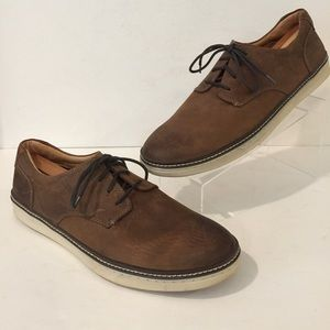 J&M MCGUFFEY Brown Nubuck Leather Comfort Shoes